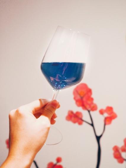 Gïk blue wine 2